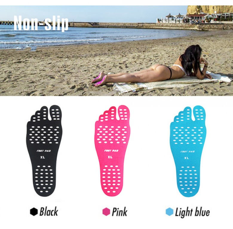 New Silicone Unisex Beach Foot Patch Pads Insoles men Comfortable Waterproof Invisible Anti-skid Shoes Mats women Foot Pads Patch