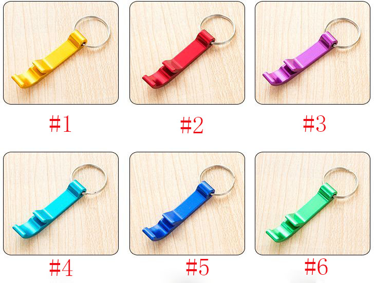 Hot Portable Resistance Aluminum Alloy Stainless Steel Beer Wine Bottle Openers Tool With Keychain Ring Creative Ornaments