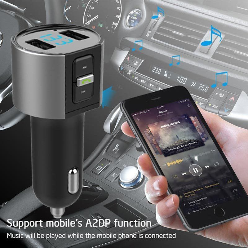 2018 High-Quality Wireless In-Car Bluetooth FM Transmitter Radio Adapter Car Kit Black MP3 Player USB Charge DHL UPS MORE