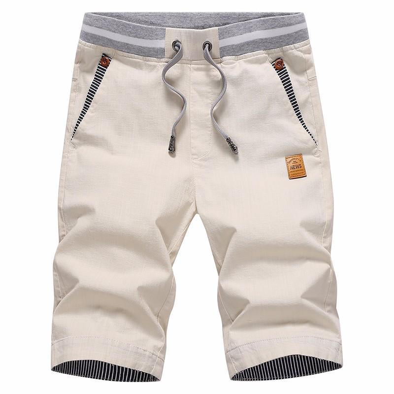 New summer linen five pants men`s casual pants Korean Slim shorts youth trend beach pants
