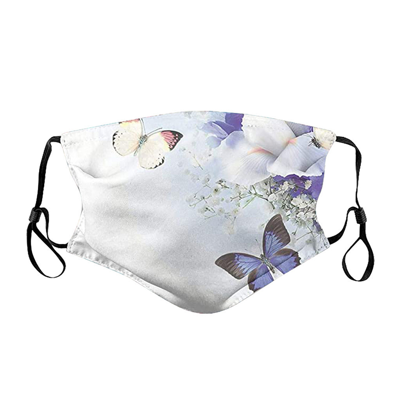Butterfly flower vortex designer face mask dust-proof Reusable Cloth Masks Protection Anti Dust Protective Masks