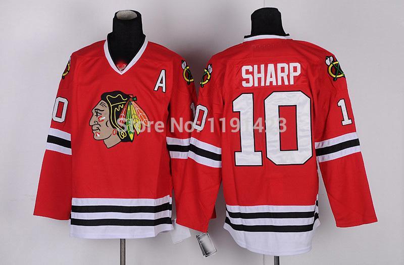 5-Men\`s Chicago Blackhawks #10 Jersey Patrick Sharp Hockey Jerseys Home Red Road White Third Black Green Stitched Jerseys A Patch_4.jpg