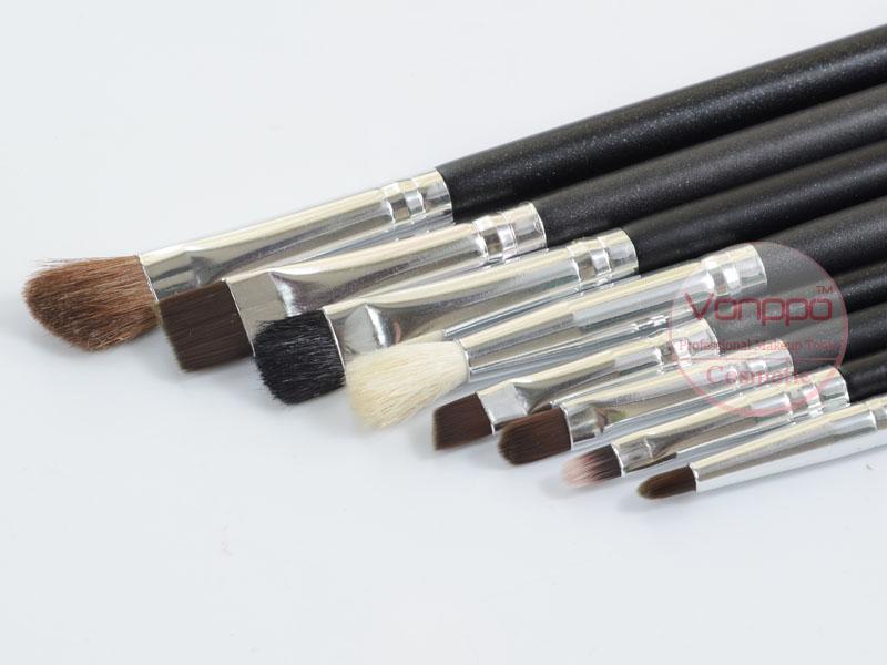 003 Professional-12-Pcs-Black-Makeup-Brushes-Set-Cosmetic-Brushes-Kit-with-Case-Free-Shipping- Wholesales