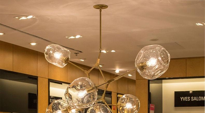 Modern Glass Pendant Light Nordic Dining Room Kitchen Designer