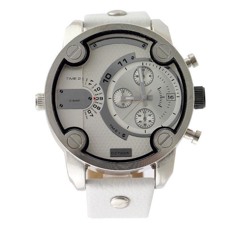 DHgate coupon: Fashion Brand 7265 Men's Big Case Mutiple Dials Date Calendar Display Leather Strap Quartz Men's Wrist Watch
