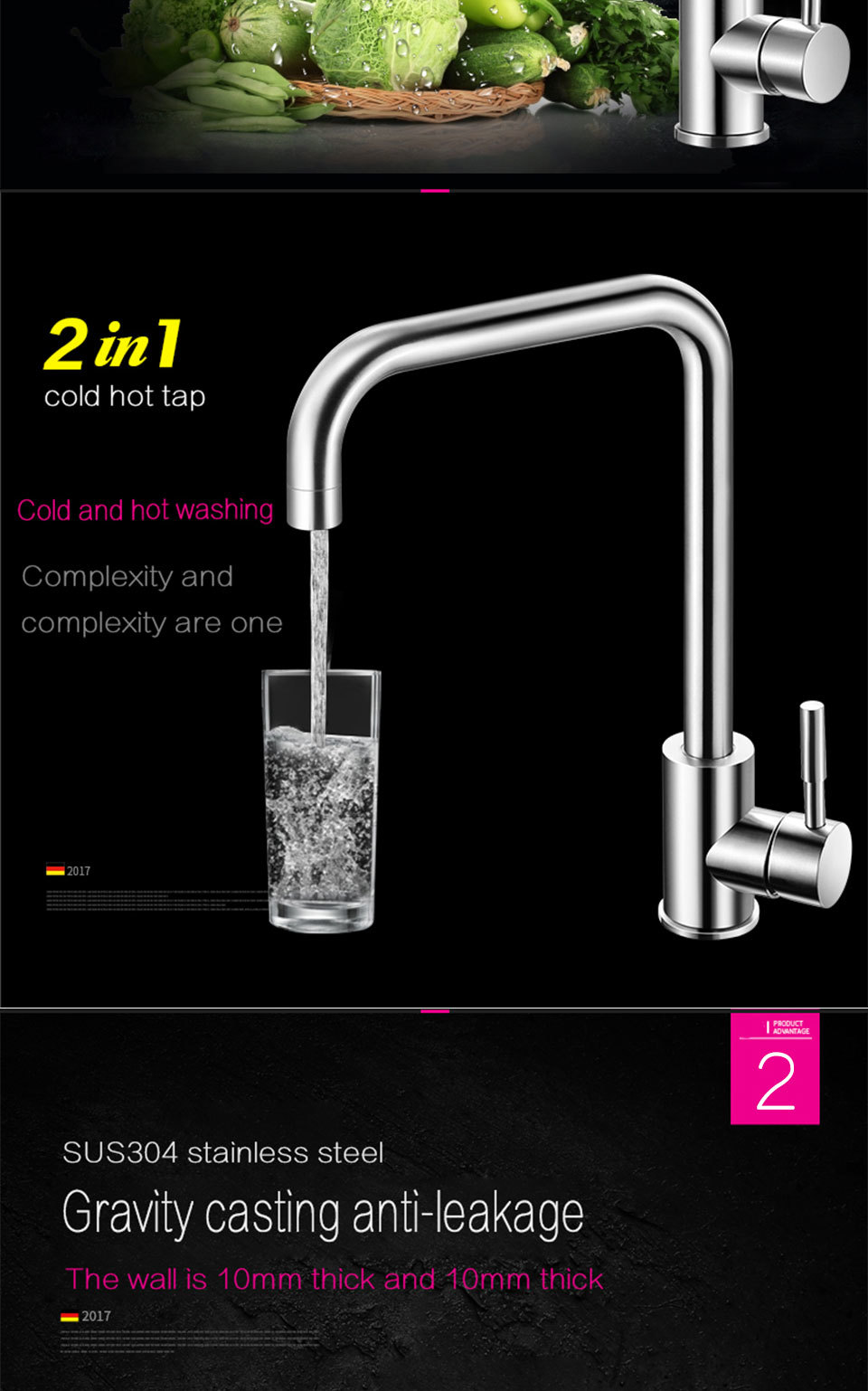 Best Coroto Hot And Cold Water Classic Kitchen Faucet Space Aluminum ...