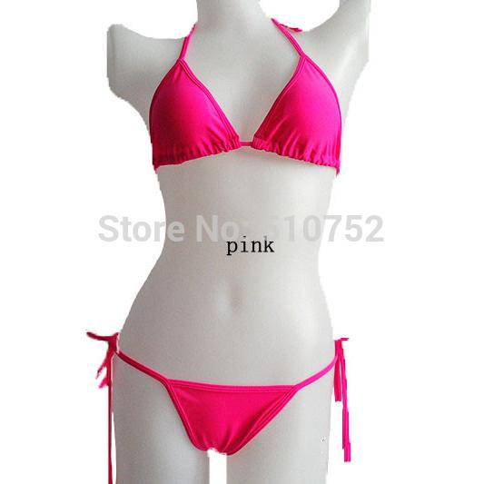 Лето новый горячий сексуальный чистый цвет женщины бикини установить бинты купальник бразильский многоцветный Виктория Бесплатная доставка купальный костюм крючком купальники