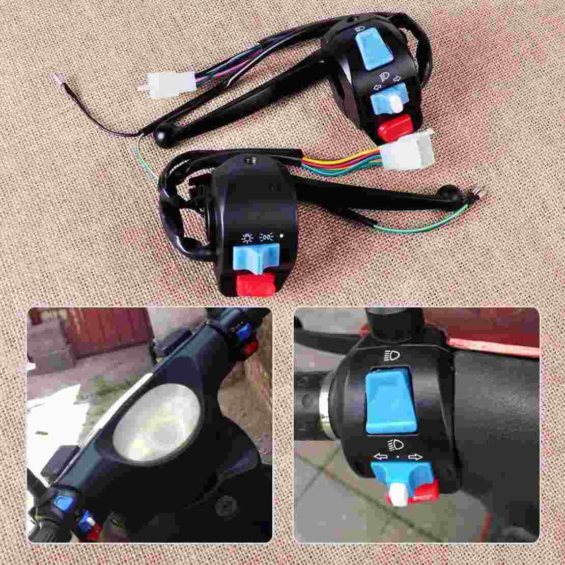 Universale Moto Quad 7//8  Motocicletta Sinistro Manubrio Interruttore Controllo Girata Segnale Luce Corno Clacson indicatori di direzione Interruttore