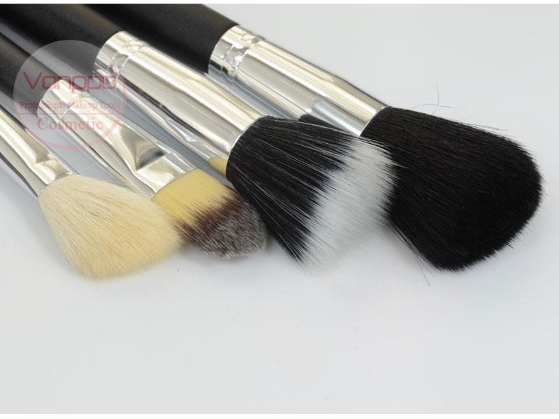 002 Professional-12-Pcs-Black-Makeup-Brushes-Set-Cosmetic-Brushes-Kit-with-Case-Free-Shipping- Wholesales