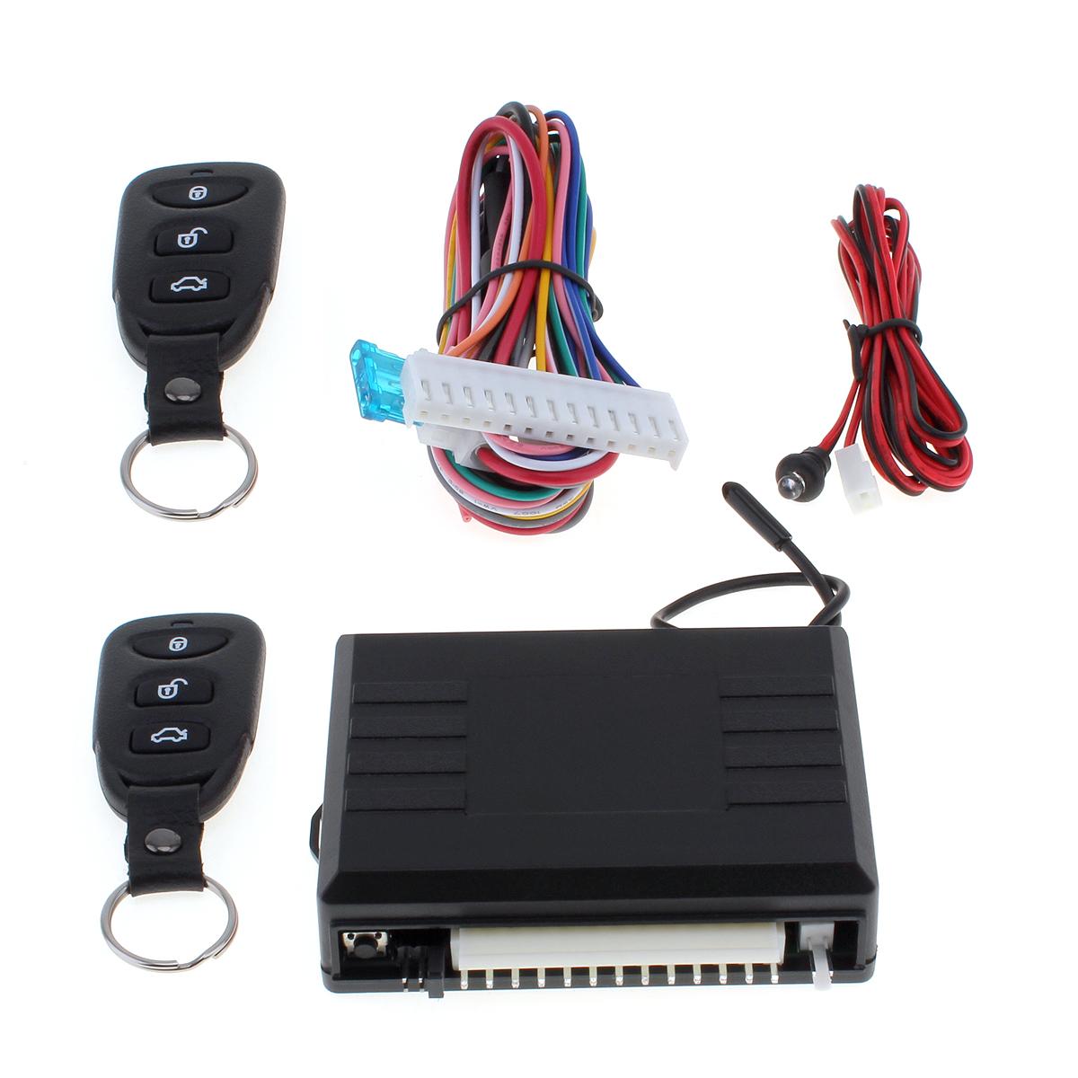Sistema de Entrada sin Llave Universal Sistema de Alarma para Autos Dispositivo de Control Remoto autom/ático Cerradura de la Puerta Bloqueo y desbloqueo Central del veh/ículo