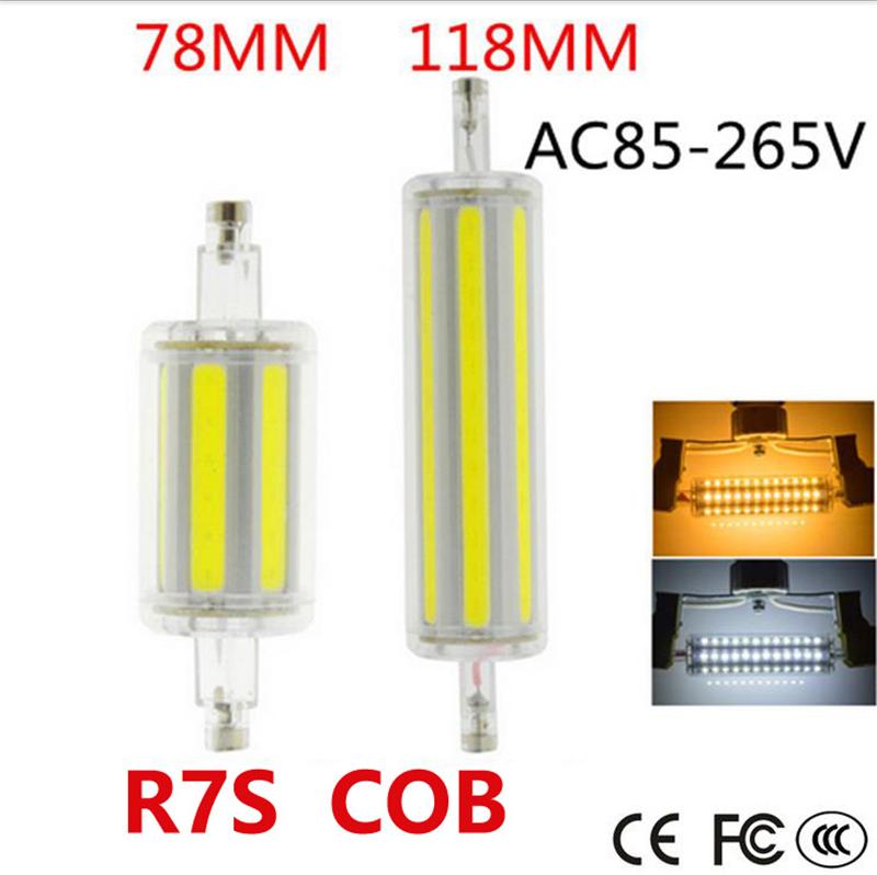 LED Flood Light R7S 78mm 118mm Bulb 6W 12W COB Replacement Halogen Tube Lamps US