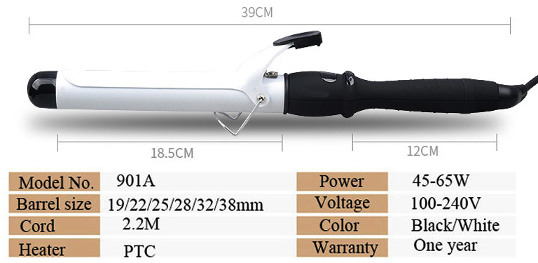 Ceramic Hair Curler PRO LCD Ceramic Hair Curling Iron Salon Hair Care Styling Tools Digital Hair Curlers Rollers 2225283238 MM (1)