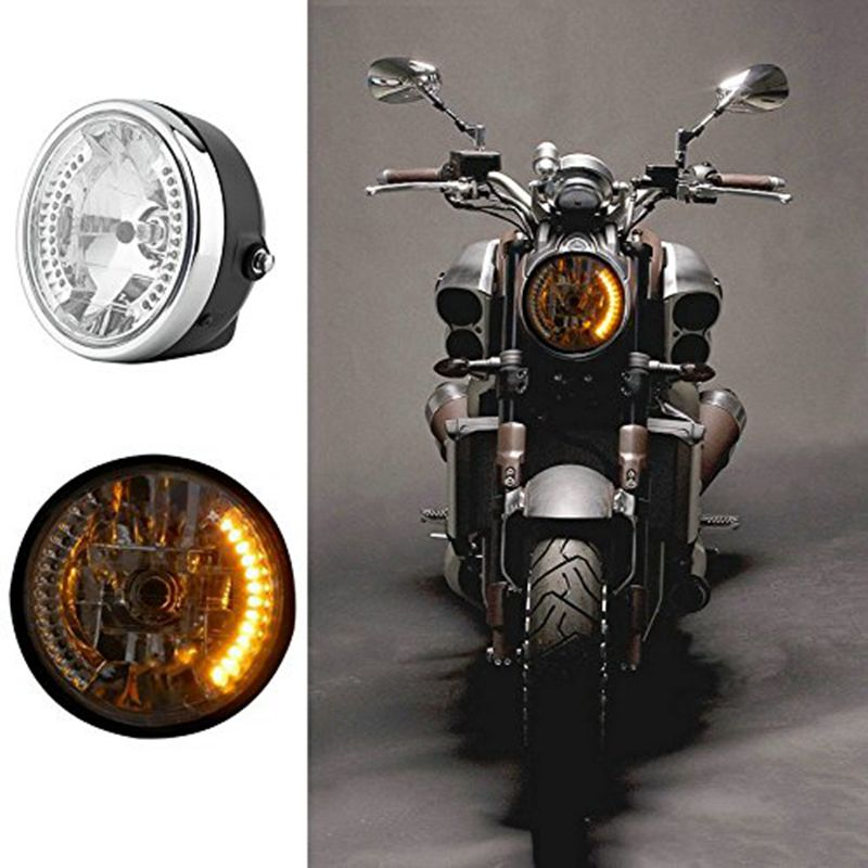 BEESCLOVER 7 Inch 35W Universal Motorcycle Headlight Transparent Crystal Glass Clear Lens Beam Round LED HeadLamp For C-B series AUTO Accessory
