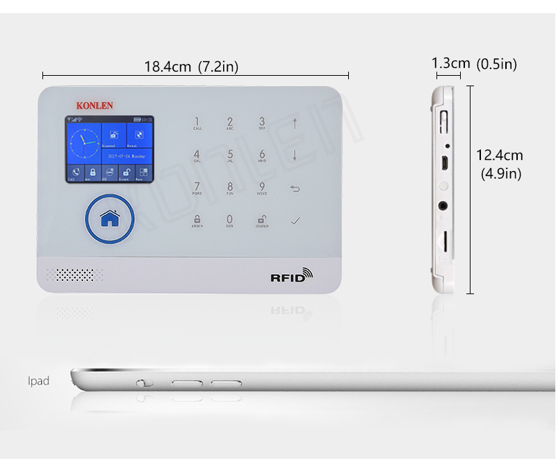 Wifi Gsm Rfid Security Alarm System Russian With Camera Ip Option ...