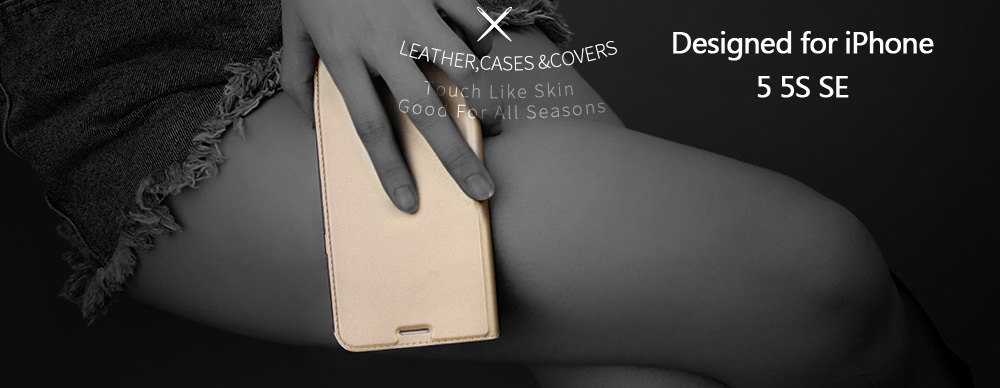 DD Luxury Flip Leather Case for iPhone 5 5s (0000)