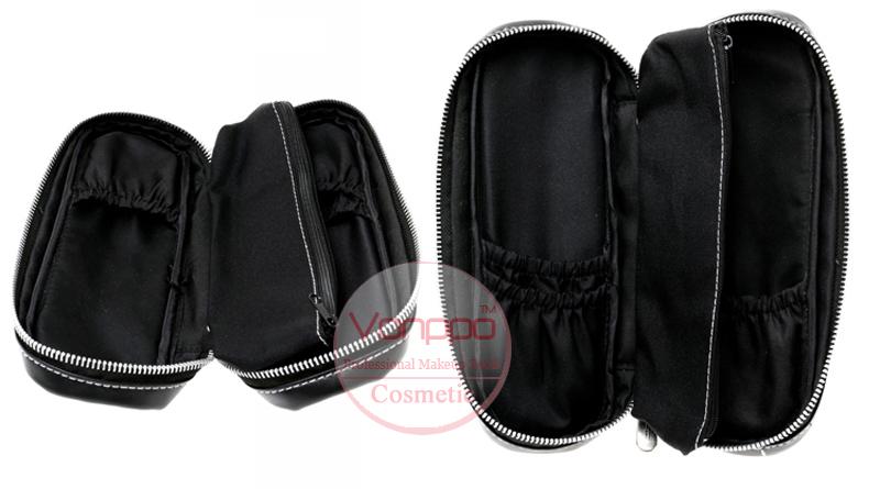 004 Professional-12-Pcs-Black-Makeup-Brushes-Set-Cosmetic-Brushes-Kit-with-Case-Free-Shipping- Wholesales