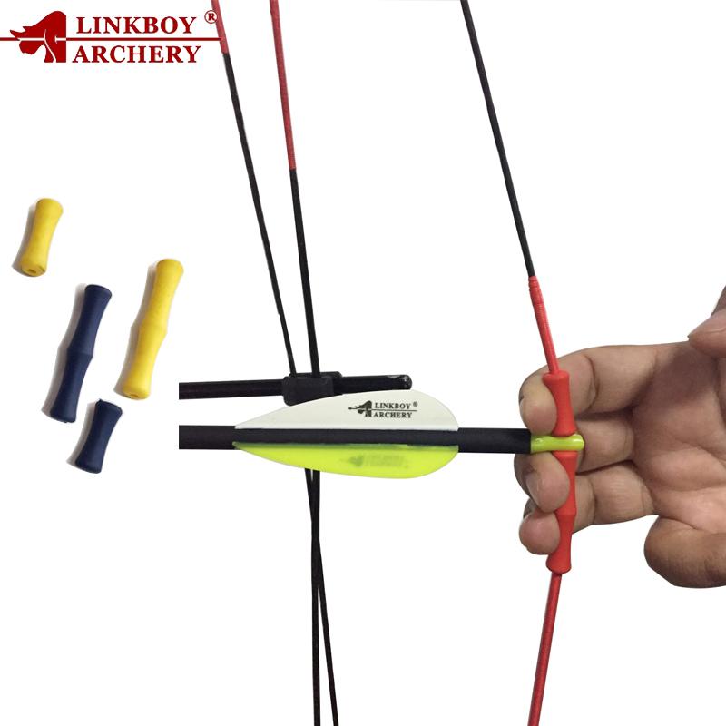 2pcs Leder Bogenschießen Pull Pfeil Daumen Finger Schutz Guard Ring