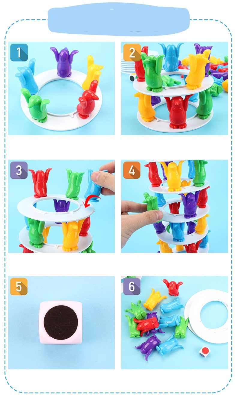 Children Toys Desktop Game Balance Toy Challenge Tower Stacked Parent-Child Interactive Board Game Intelligence Toys For Kids (9)