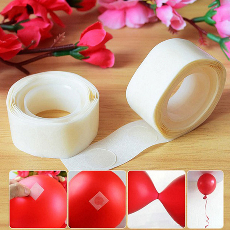 1Roll Dots Removable Adhesive Glue Foil Balloon Tape Wedding Birthday Decor 5mm
