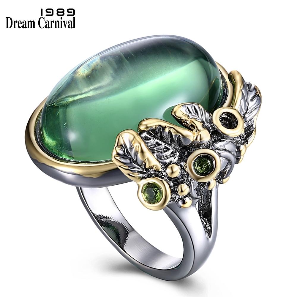 WA11549 women ring green