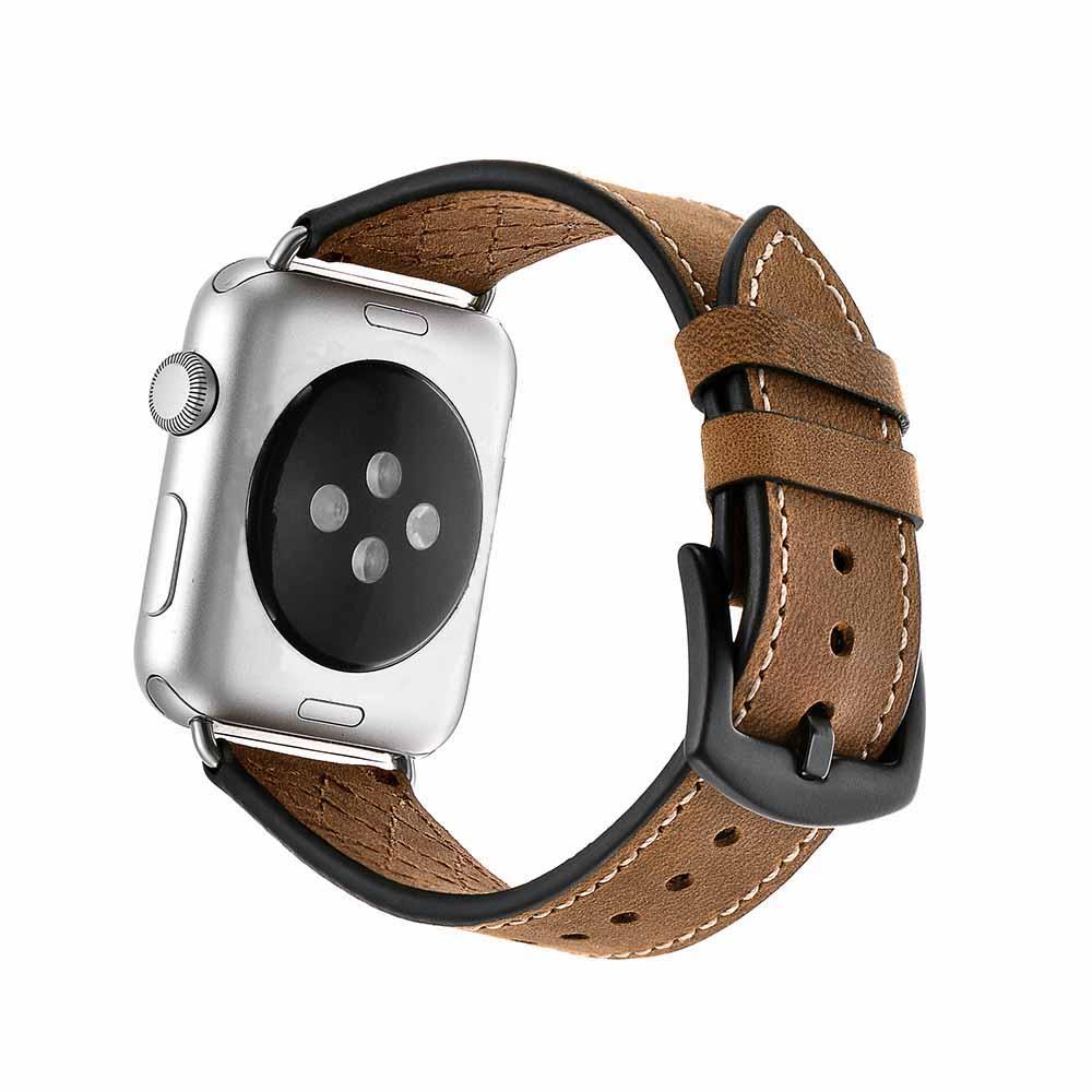 Großhandel neue spezielle Crazy Horse Leder Uhrenarmband für Apple Watch Band Uhren ZubehörWatchband 42mm 38mm iWatch