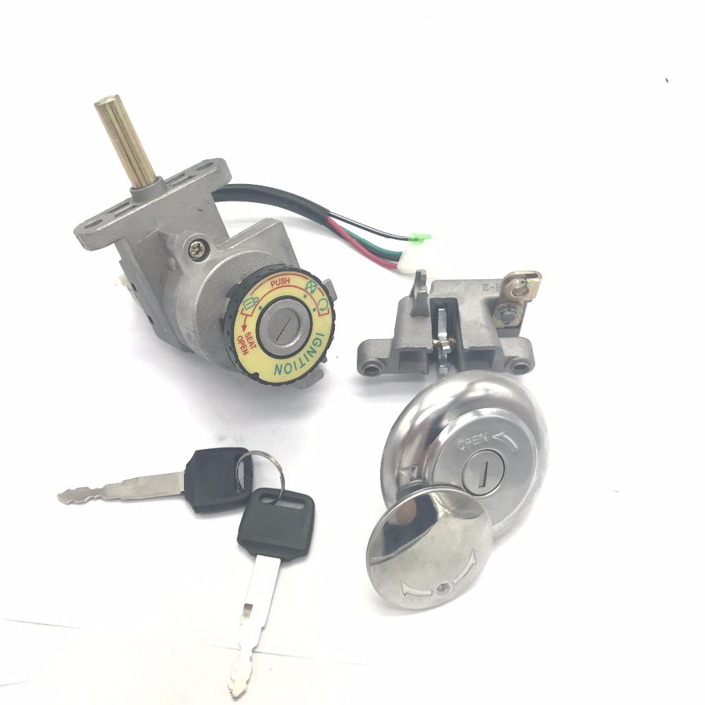 serrure de cl/és de verrouillage de commutateur dallumage de cl/é de 2 fils pour le kart de cyclomoteur /électrique du scooter ATV Serrure /électrique de v/élo