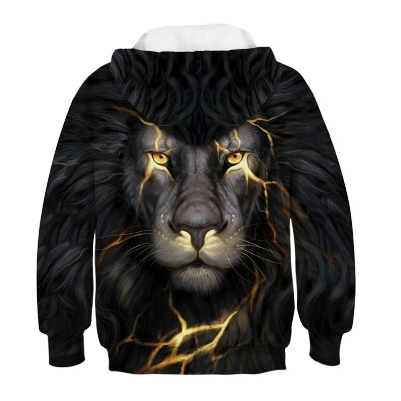 Vente en gros Tenues Assorties 3d Lion Imprimés Sweats À Capuche Sweat Enfants Vêtements Enfants Parent-Enfant Pull Famille Vêtements