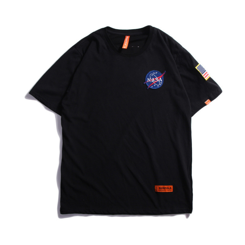 U.s.a Ins Exceed Fire Real T Pity Male Nasa Astronaut Easy Short Sleeve Tide Tee Men And Women Lovers Half Sleeve Poloshirt Shirt Men Polo