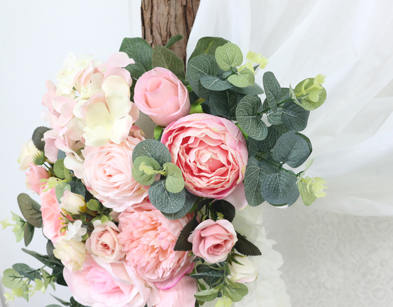 JAROWN Artificial Rose Flower Row Small Corner Flowers Simulation Silk Fake Flowers Wedding Decor Home Garland Decor Flores (2)