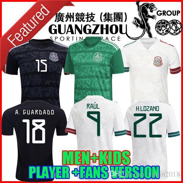 PLAYER VERSION 20 21 Mexico Soccer jerseys away H.LOZANO DOS SANTOS CHICHARITO 2020 2021 national team MEN KIDS KIT football uniform shirt