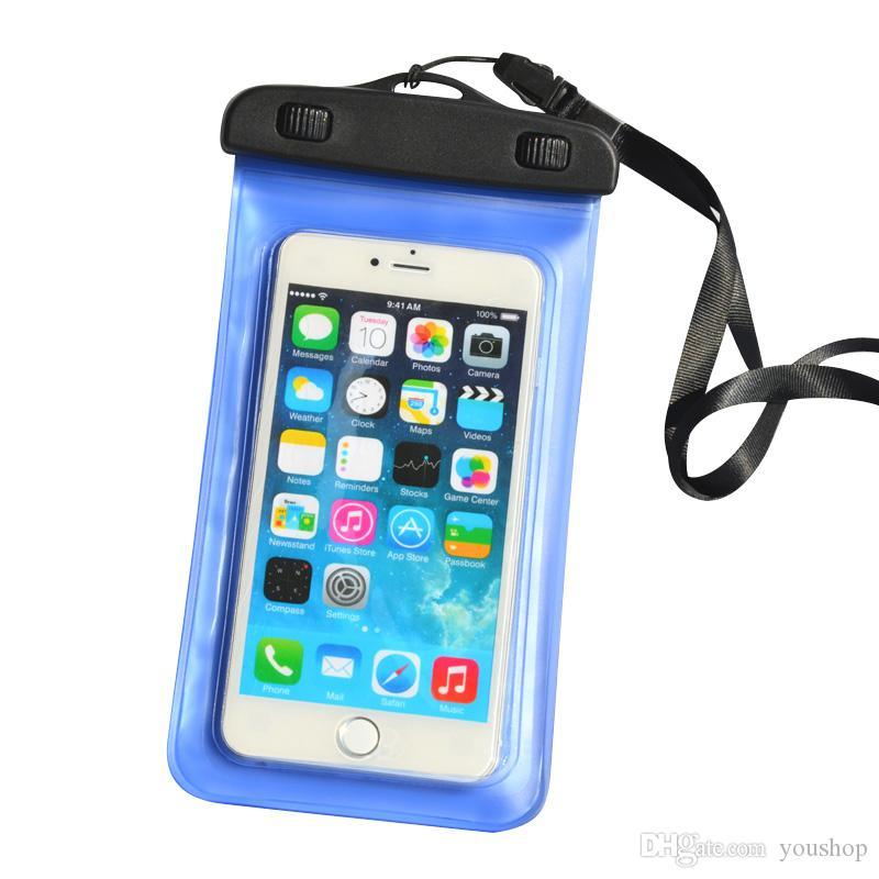 Universal Mobile Phone PVC Underwater Waterproof Bag Pouch Swimming Diving Case for iphone 7 / 7 plus / 6s / 6 Plus