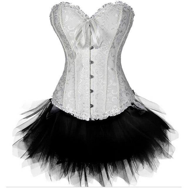 Sexy-Gothic-Overbust-Corset-Skirt-Set-Lace-Floral-Steampunk-Waist-Cincher-Croselet-Corpetes-Tutu-Mini-Skirt.jpg_640x640 (3)