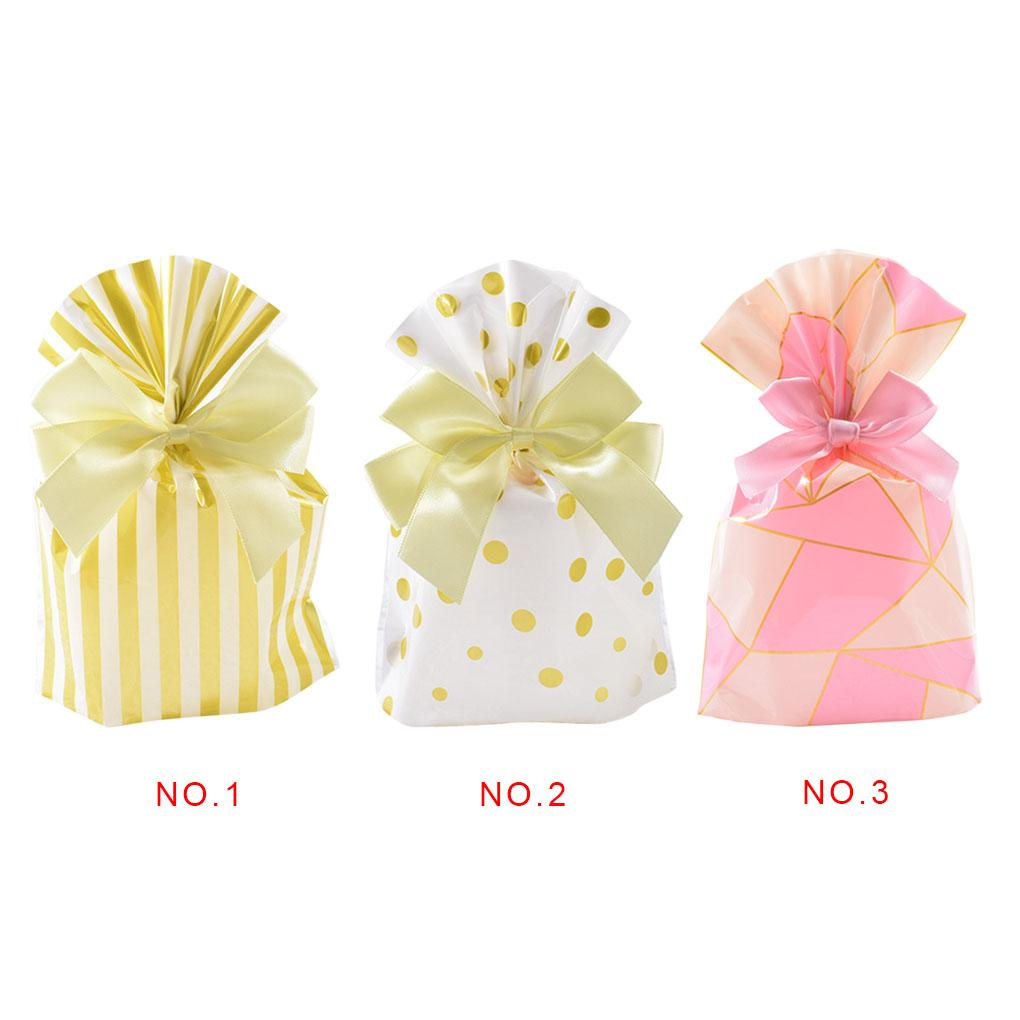 200x Christmas Transparent Gift Bags Cookie Candy Wrapping Bags Xmas Party Favor