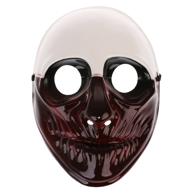 Halloween Bloody Scary Zombie Mask Melting Face Latex Cosplay Bad mouth Charlie