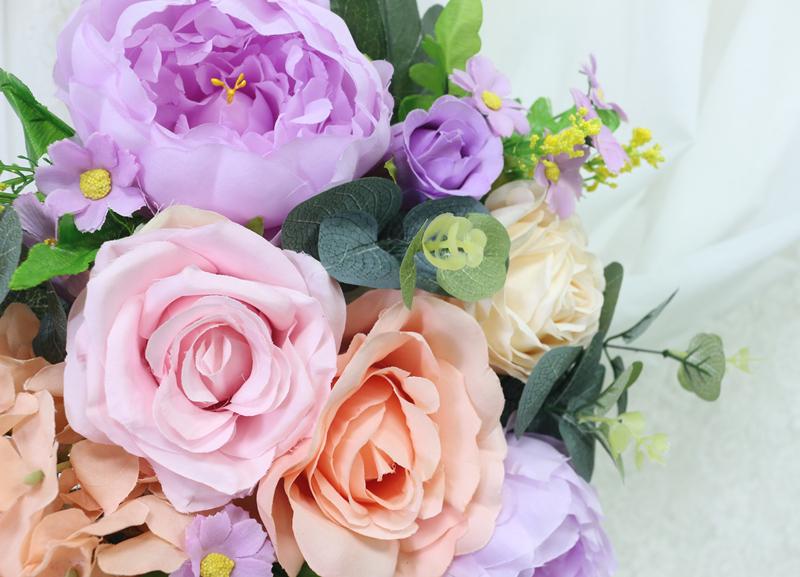 JAROWN Artificial Rose Flower Row Small Corner Flowers Simulation Silk Fake Flowers Wedding Decor Home Garland Decor Flores (6)