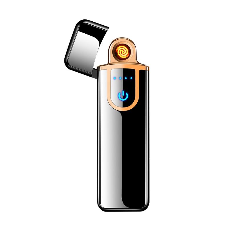 2 in 1 IN METALLO SIGARETTE di ricarica USB senza fiamma campeggio ACCENDINO ANTIVENTO