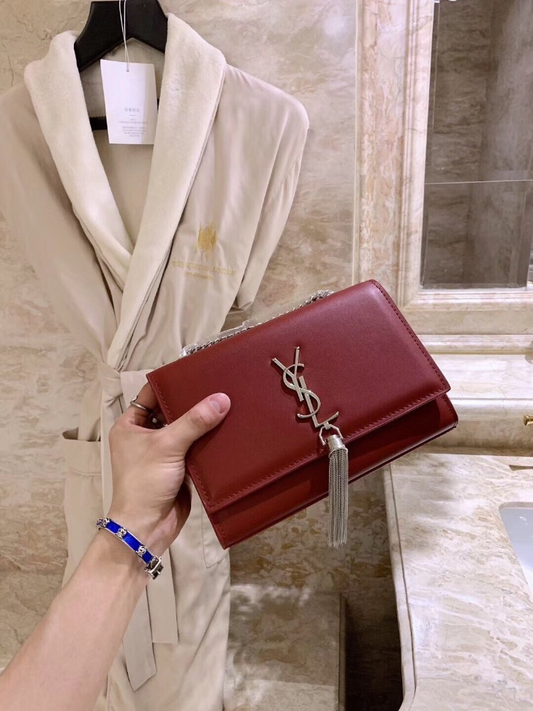 Women's bag 2019 trend classic diagonal chain leather bag multi-color optional
