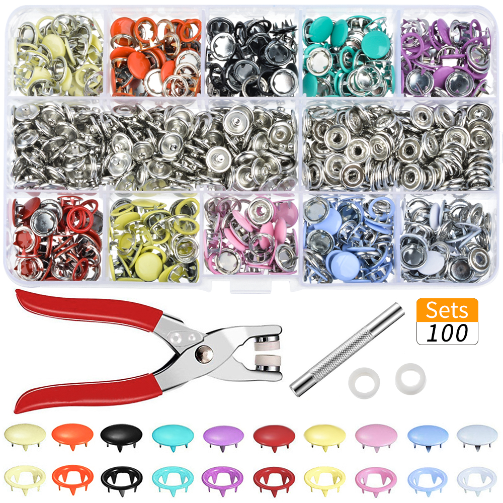 1 Set Fastener Press Snap Button Plastic Making Sewing Accessories DIY Crafts