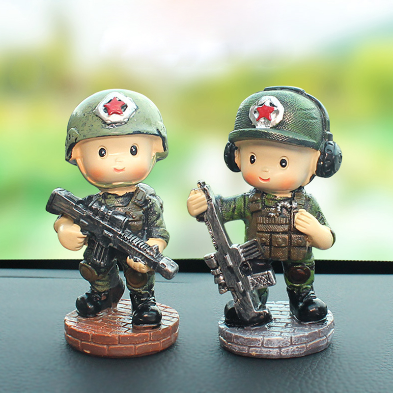 Military Bobble Head Combat Army Soldier Collectible Figurine Decor