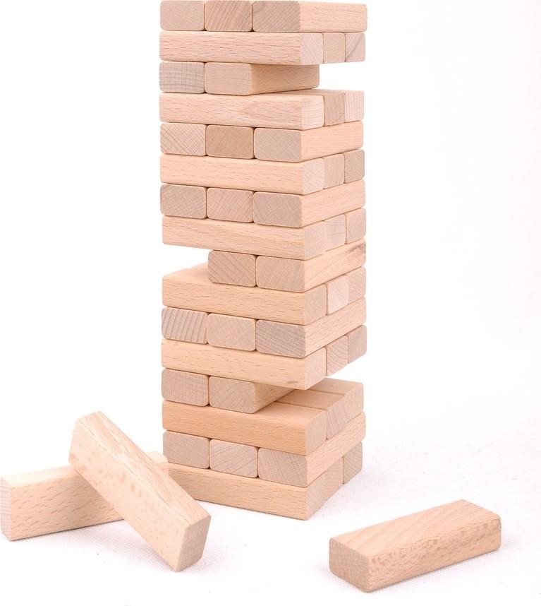 juegos de Madera tipo jenga Natural grande 48 piezas tamaño cubos