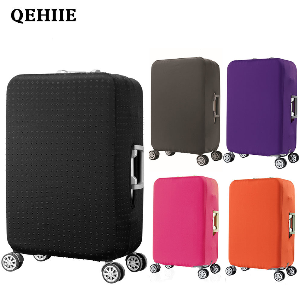 Travel thick elastic protective cover solid color luggage dust cover 9 color optional luggage cover Travel accessories