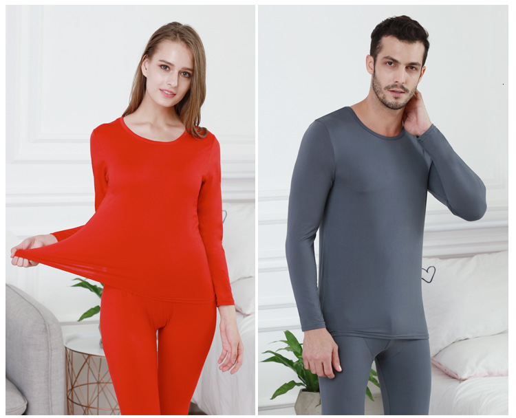 Queenral Long Johns For Male Female Warm Thermal Underwear Thermal Clothing Men Woman Winter Plus Size L - XXXL Thermal Suit 14