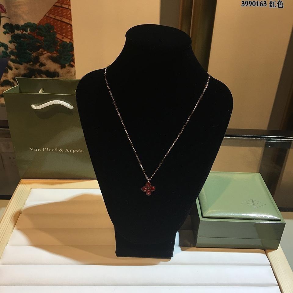 2019 mode Schmuck heißer verkauf Tik Tok rote blume stil kristall anhänger halskette frauen lieben geburtstagsgeschenk top qualität frauen halskette ze-5