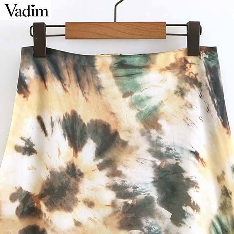 Vadim Kadınlar Vintage Çiçekli Baskı Ayak Bileği Uzunluğu Bir Çizgi Etek Yan Fermuar Fly Casual Kadın Şık Chic Uzun Etekler Mujer Ba525 J190619