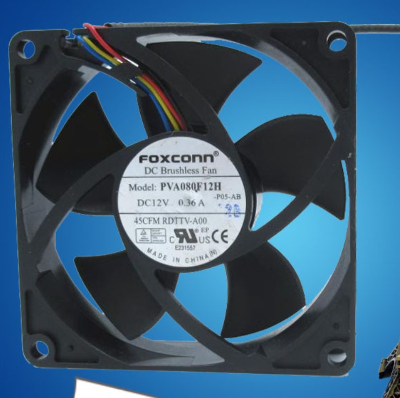 PVA080F12H 8cm 8020 fan 12V 4-wire computer CPU power supply chassis cooling fan