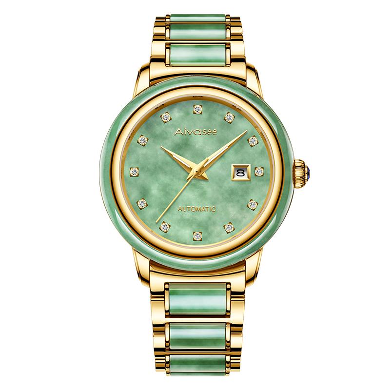 Бизнес мужские часы 2019 New Jade Couples Коллекция наручных часов Classic Fashion Jade Woman Watch Luxury Нефритовый топ мужские часы