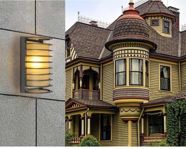 Modern LED Wall Lamp 15w AC 110v 220v For Lobby Hotel Villa Outdoor Waterproof Semi-circle Aluminum Wall Lamp