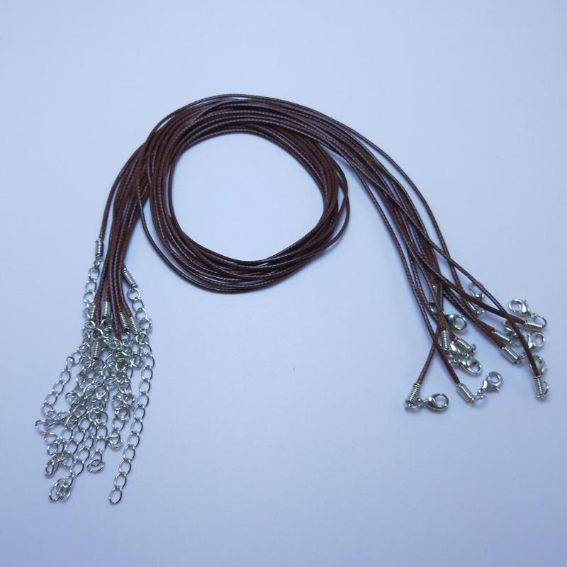 """Wax Cord Necklace Lobster Clasp Necklace Jewelry Fit Charms 17/""""100pcs Dia 1.5MM"""