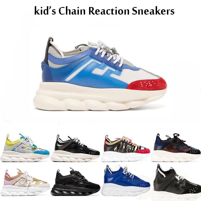 Enfants versace Chain Reaction Casual Chaussures de sport meilleure qualité Sport Fashion Boy Filles Jeunes enfants Entraîneur Lightweight Link Sole