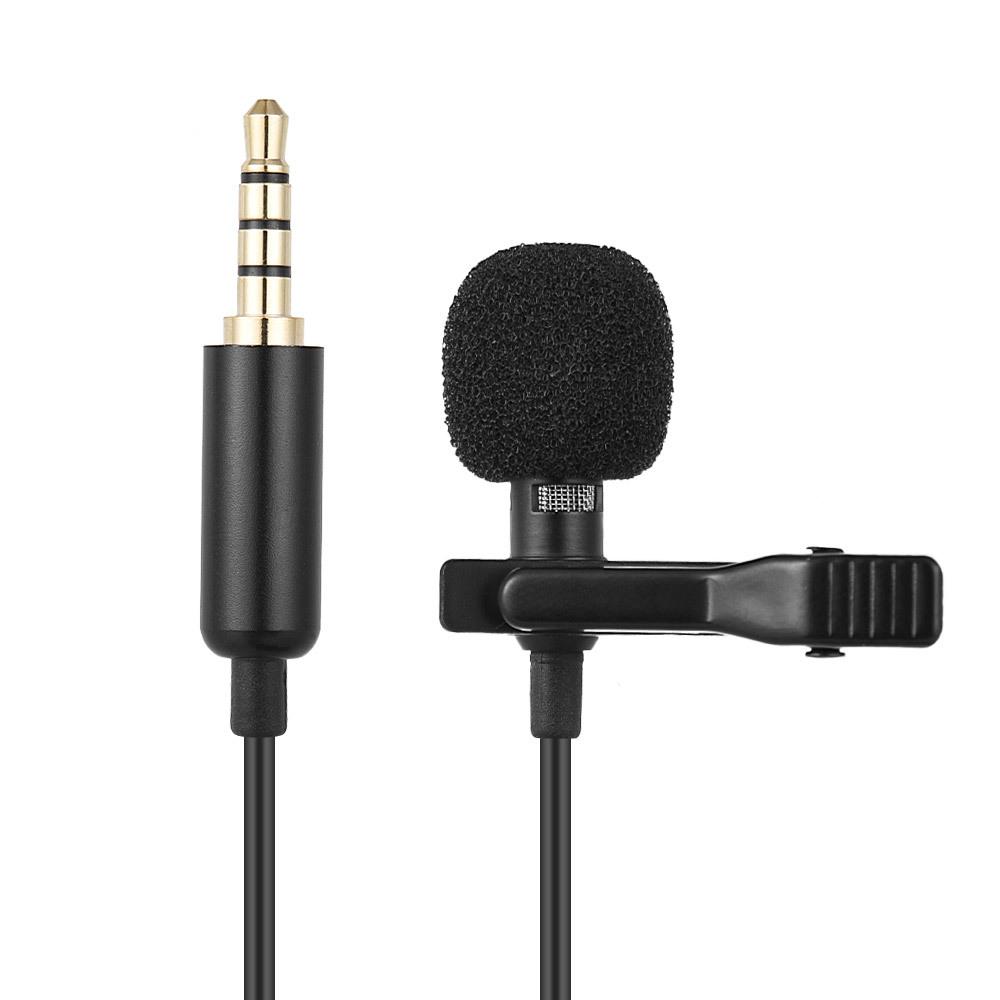 Tragbarer Mini-Mikrofon-Kondensator-Clip-on-Revers-Lavalier-Mikrofon mit Mikrofon / Mikrofon für DSLR-Kamera-Laptop